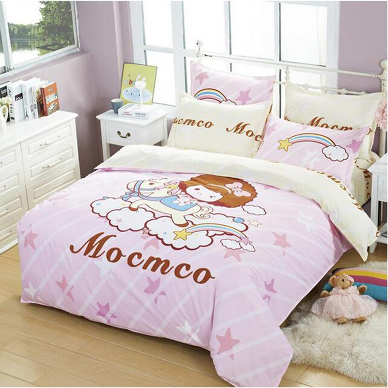 Soft cotton bedding sets kids bedspreads cartoon bedclothes duvet cover set bed sheets king queen twin sizeSoft cotton bedding sets kids bedspreads cartoon bedclothes duvet cover set bed sheets king queen twin size