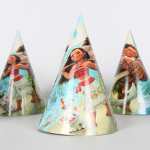 6pcs/lot Moana Maui Theme Party Caps Hat Kids Happy Birthday Party Supplies Baby Shower Party Decoration(China)