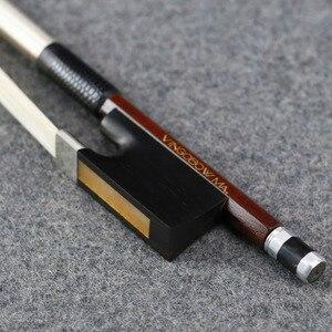 Image 1 - 4/4 크기 910V D.peccatee 마스터 Pernambuco 바이올린 활 좋은 품질 흑단 및 Horsehair 100% 실버 장착 바이올린 액세서리