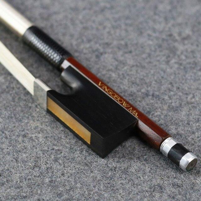4/4 크기 910V D.peccatee 마스터 Pernambuco 바이올린 활 좋은 품질 흑단 및 Horsehair 100% 실버 장착 바이올린 액세서리