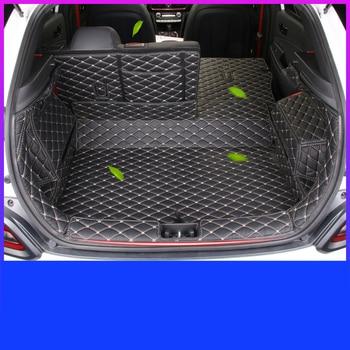 Lsrtw2017 Fiber Leather Car Trunk Mat Floor Mat for Hyundai Encino Kona 2018  2019 2020
