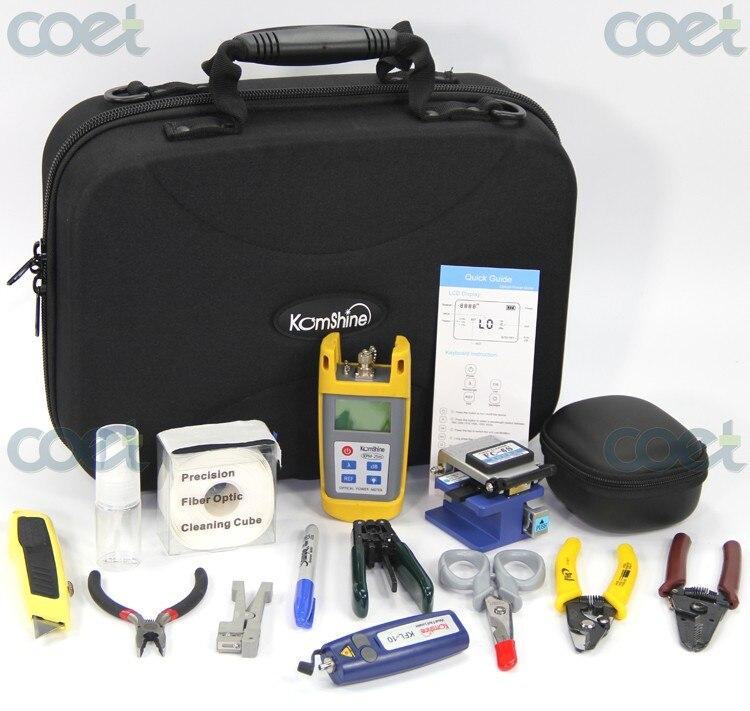 Kit d'outils à Fiber optique de base KomShine KFH-13 avec compteur de puissance optique/VFL/couperet à Fiber optique/décapant à Fiber optique