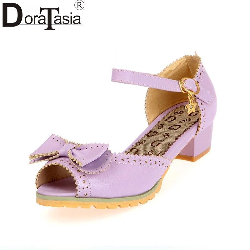 DoraTasia Big Size 28-52 Anpassung Süße Bow Frauen Schuhe - Damenschuhe