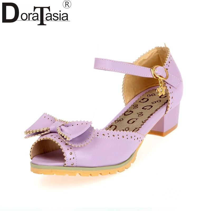Doraasia كبيرة الحجم 28-52 التخصيص القوس - أحذية المرأة