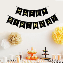 1Set Multi Themes Happy Birthday Banner Party Decoration Baby Shower Photo Props Bunting Garland