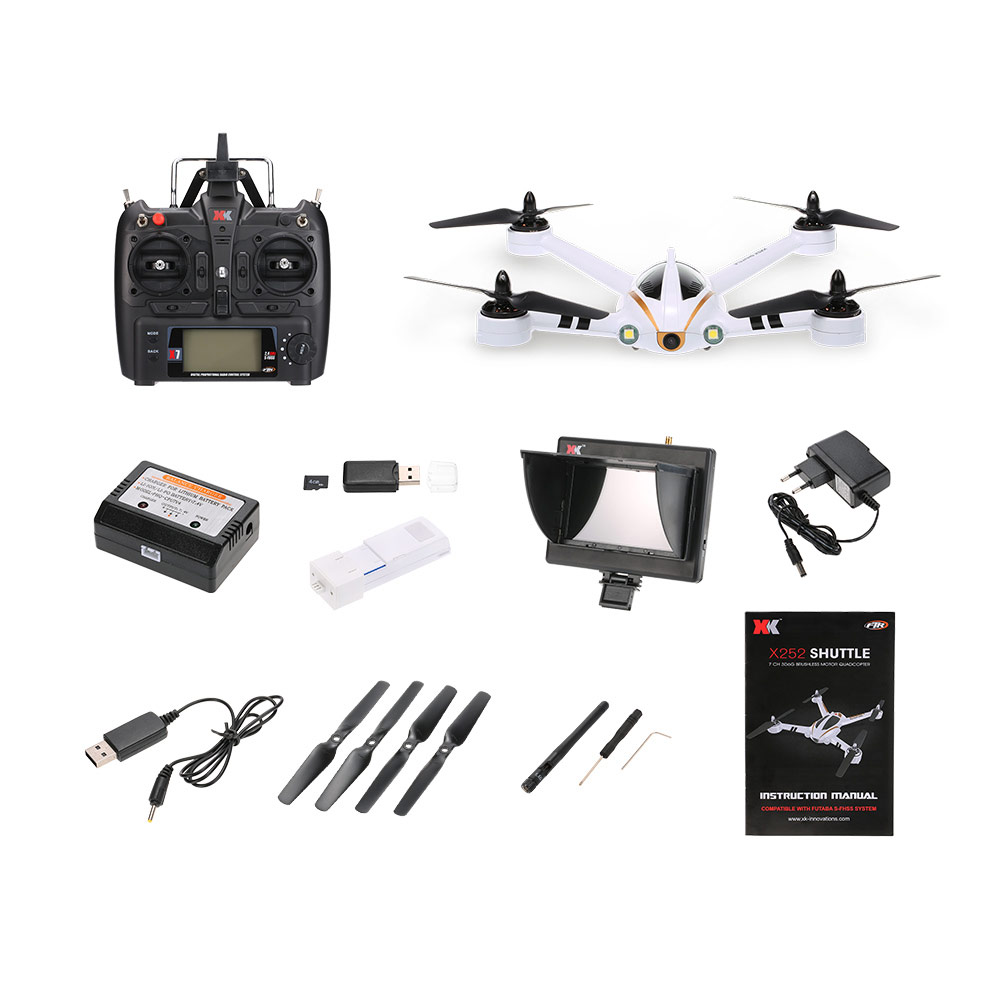 Freeshipping X252 2.4G 7CH 5.8G FPV Quadcopter RC Racing Drone With 720P Wide-Angle HD Camera Brushless Motor RTF 3D 6G Mode