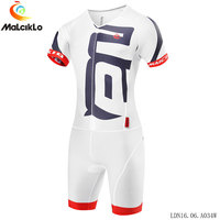 Malciklo Triathlon Cycling Jersey Skinsuit MTB Bike Jersey Men Running Swimming clothing Ropa Ciclismo Maillot clothes suit