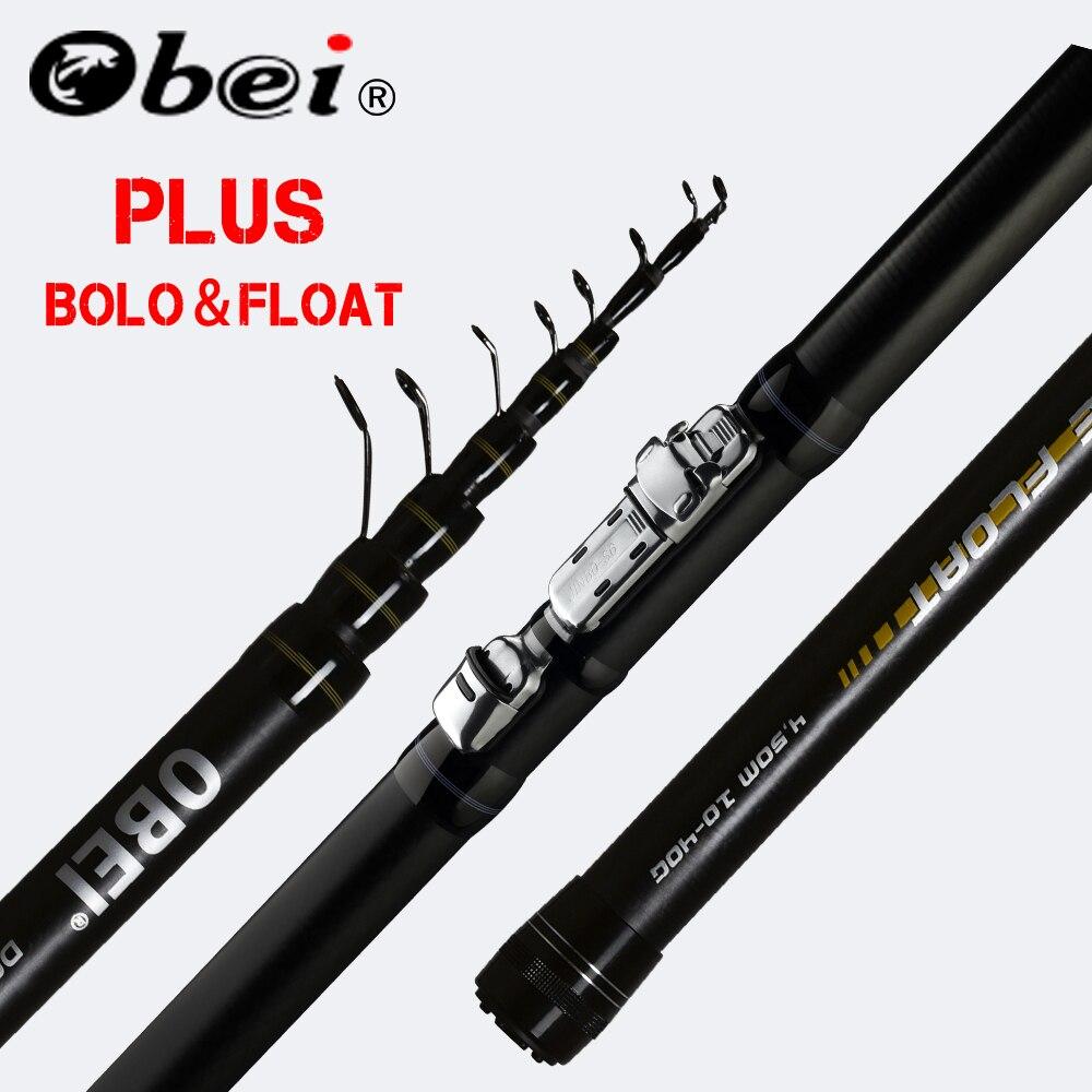 Obei INTENSA telescópica portátil Bolo de pesca Rod 3,8 de 4,5 a 5,2 m de luz Ultra girando de flotador de pesca 10- 40G de caña