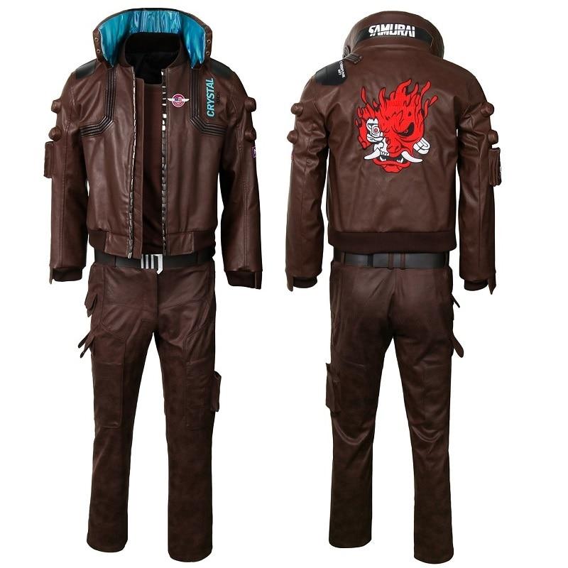 Ambitieus Game Cybp2077 Jacket Kostuum Pu Leer Hip Hop Punk Jas Jas Casual Cool Pak Voor Volwassenen Mannen Vrouwen Comfortabel Gevoel