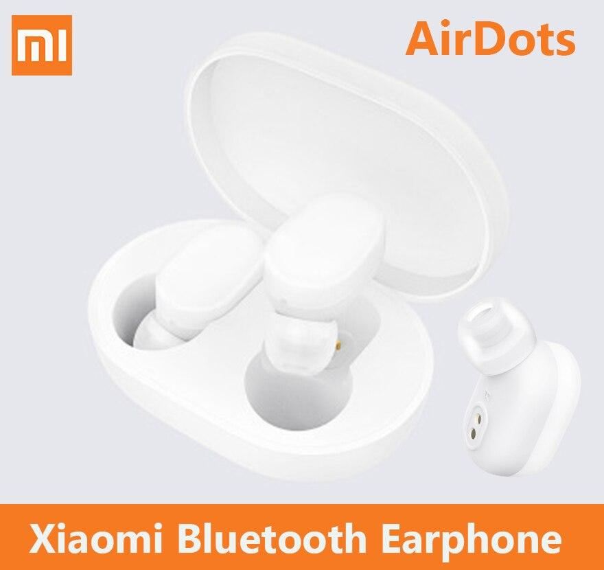 Mijia Xiaomi AirDots Sans Fil écouteurs bluetooth TWS Casque Intra-auriculaires Mains Libres Smart AI Contrôle Automatique Casque maison intelligente