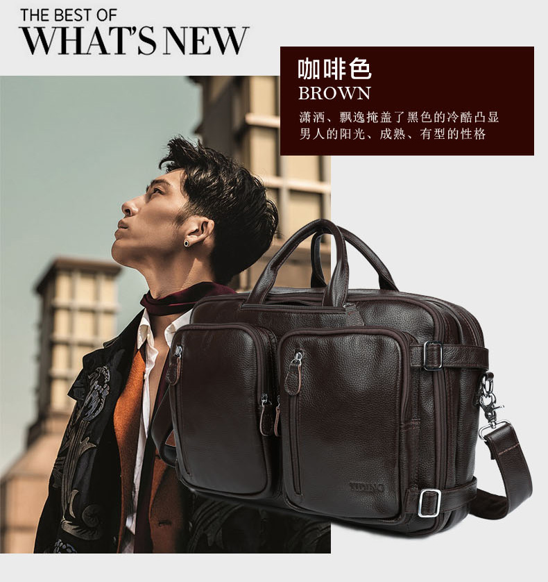 Genuine leather men messenger bags business Leather laptop bag men bag men's briefcase Tote travel shoulder laptop bag