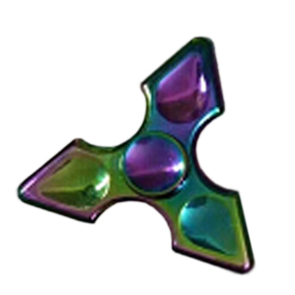 2017 New Fashion Colorful Limited Edition Tri spinner Fingertips EDC Hand Spinner Titanium Fidget Spinner