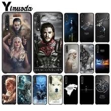Yinuoda Game Thrones Novelty Fundas Phone Case Cover for Haiwei NOVE3E P 10 Plus P20 Pro Honor 9