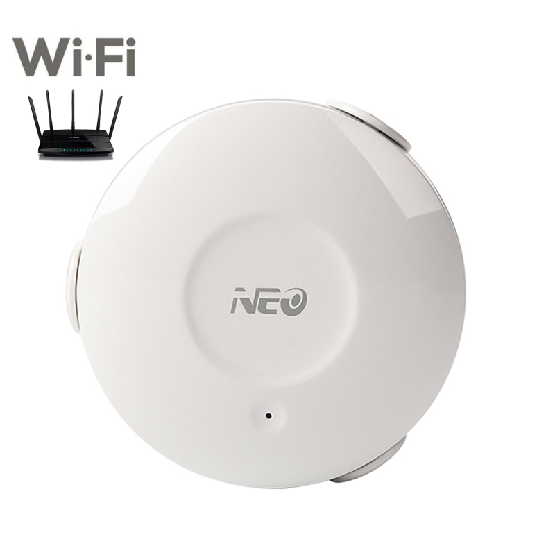 NEO WIFI Water Flood Sensor WI-FI Water Leakage Detector App Notification Alerts Leak Alarm