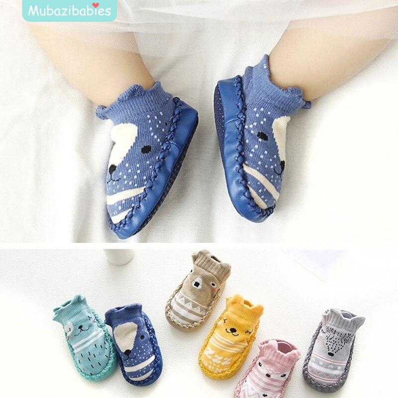 Baby Slipper Socks Leather Sole Baby Slipper Socken