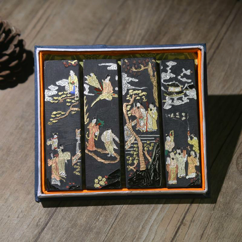 Exquisite Traditional Chinese Painting Ink Stick Pine Soot Hui Ink Practical Calligraphy Writing Learning Ink Stick Grind Inker