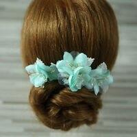 Green Bridal Hair Accessories Jewelry Sets Bridal Headpiece Hairpins Wedding Headdress Hairband Bride Hair Flower Band