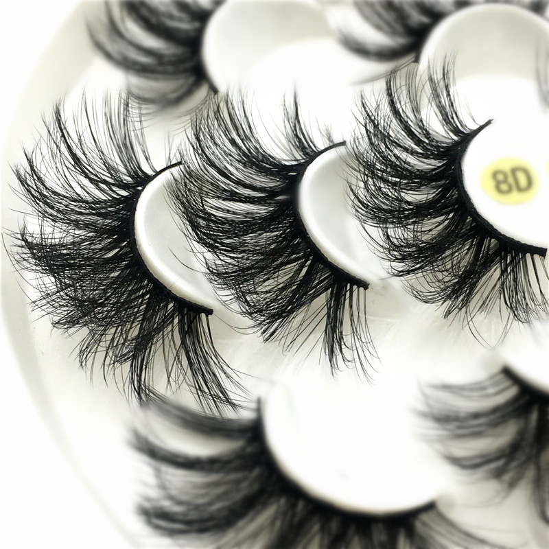 Image 4 - SEXYSHEEP 3/7pairs 25mm 8D Mink Lashes Natural Long False Eyelashes Volume Fake Lashes Makeup Extension Eyelashes maquiagem-in False Eyelashes from Beauty & Health