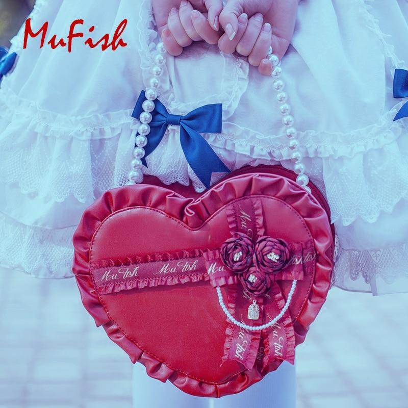 Princess sweet lolita handbag MuFish original bird cage love gift box and Lolita's daily dual-use handbag fashion women MXY193