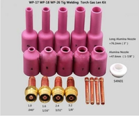 Free Shipping 19PCS TIG KIT Long Gas Lens Long Alumina Cup Fit TIG Welding Torch PTA