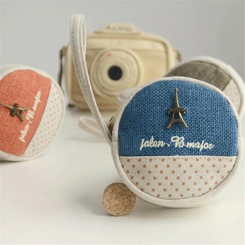 Fashion-Women-Girl-Kid-Baby-Storage-Cute-Coin-Round-Canvas-Zipper-Bag-Change-Wallet-Purse-CB0034