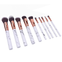 Marble Professional Makeup Brushes 10 pcs Set