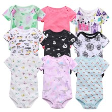 3pcs/lot newborn bodysuit baby babies bebes clothes Short sleeve cotton printing infant clothing 1pcs 0-24 Months