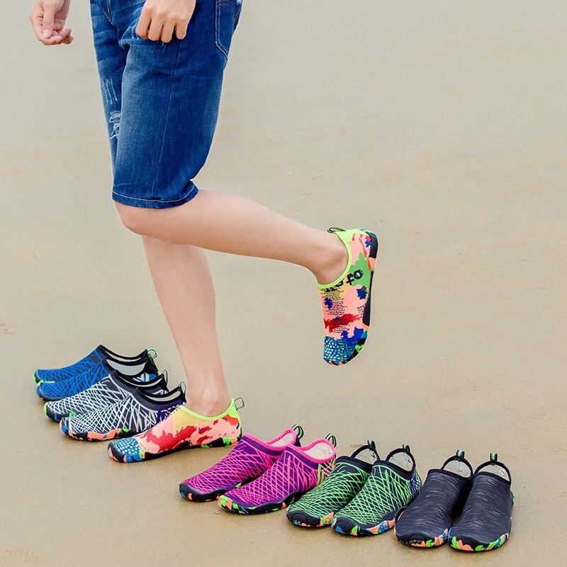 Antiderrapante esportes aquáticos respirável das mulheres dos homens de mergulho meia meias de neoprene de natação sapatos de praia de areia sapatos de mergulho