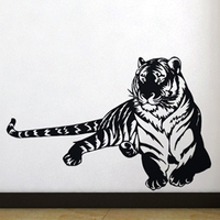 Free Shipping Wall Stickers Home Decor SIze 560mm 850mm PVC Vinyl Paster Removable Art Mural Tiger