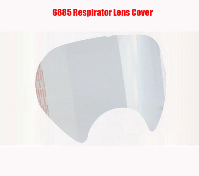 5/10/15/25 pcs/pack Gas Mask Protective film 6885 RESPIRATOR LENS COVER USE For 3 M 6800 Dust Mask 2