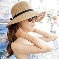 ГОРЯЧАЯ! Мода Красивая Взрослых cap Лук Соломенная Шляпка Summer Sun Beach Sun caHat Женщин Девушки caHat вс шляпы для женщин кентукки дерби ха