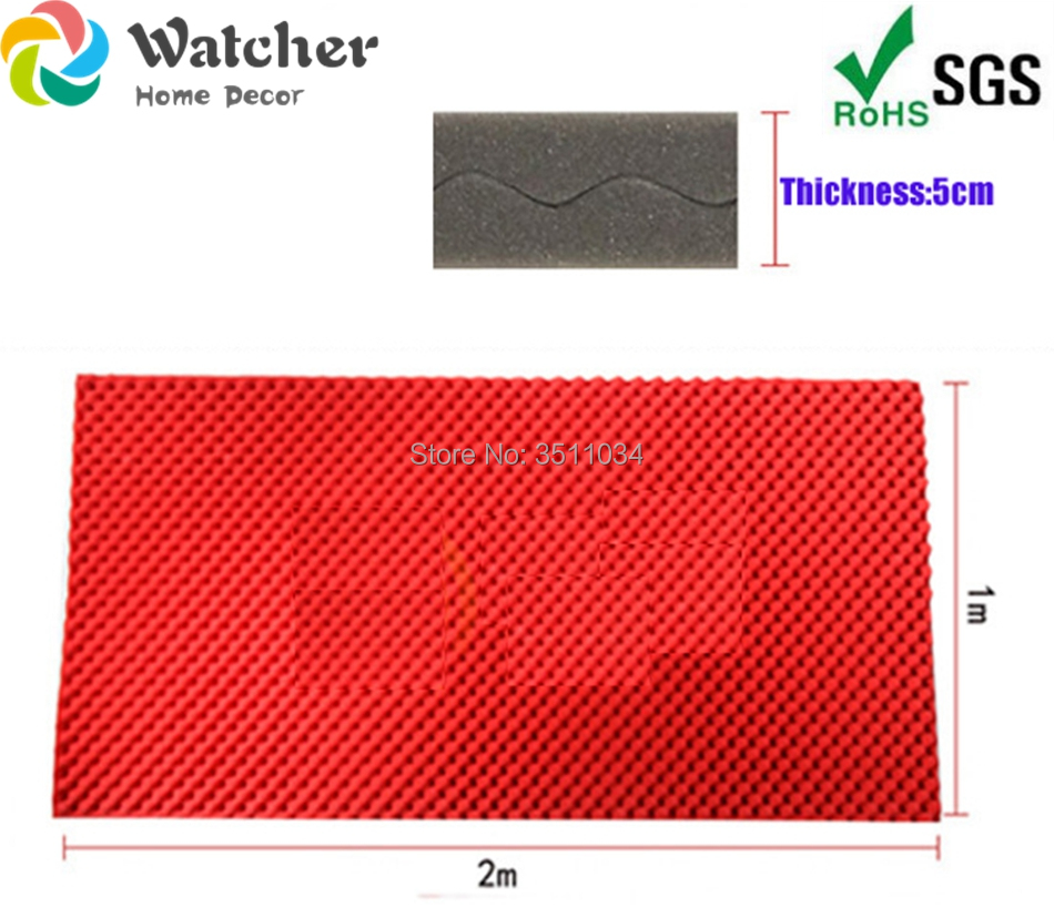 2 pièces grande taille 200x100 cm couleur rouge oeuf caisse acoustique mousse Studio insonorisation mur Wedge carreaux salle de contrôle