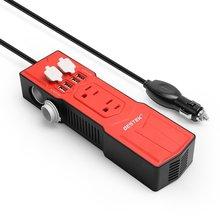 BESTEK Инвертор Силы Автомобиля 12 В 110 В Конвертер 200 Вт 12 В До 110 В преобразователь DC AC Инвертор 5 В 4.8A 4 USB Автомобильное зарядное устройство Разъем адаптер
