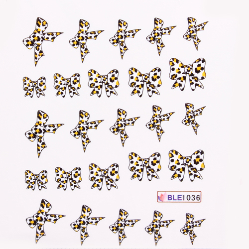 35 designs leopard print nail art decals water transfer stickers bows retail 35 sheets lot