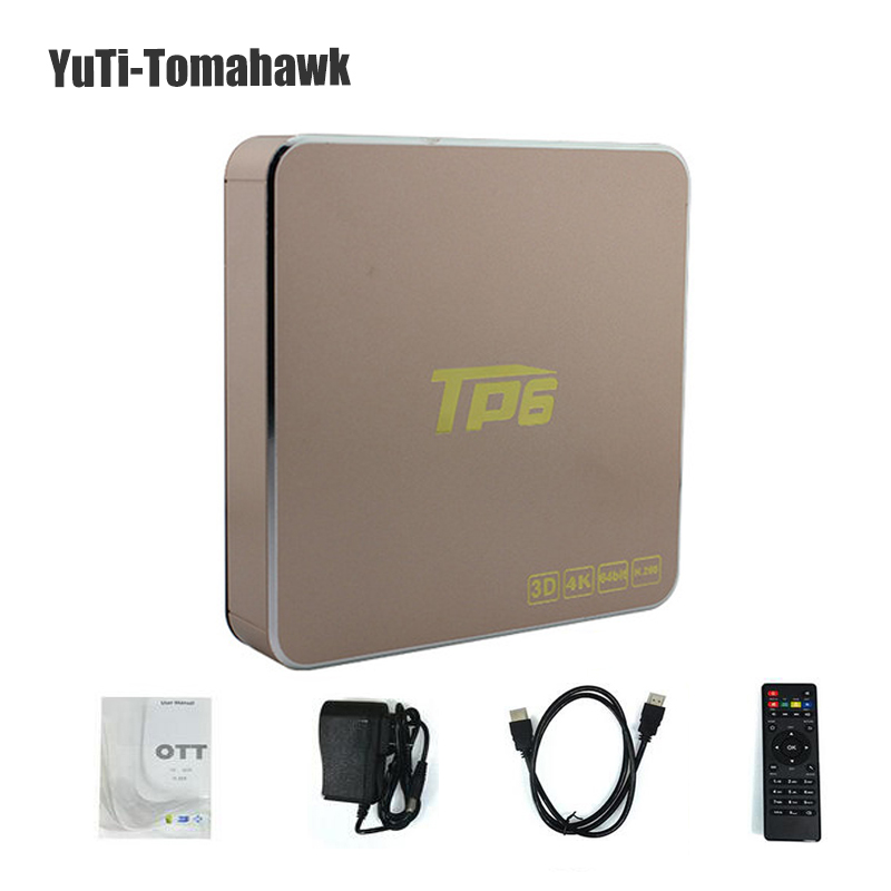 Haute Qualité TP6 Android 7.1 1G/2G/3 GB Ram 8G/16G/32 GB Rom S905X 64 bits Quad-Core TV Box Soutien 3D 4 K Set-top box
