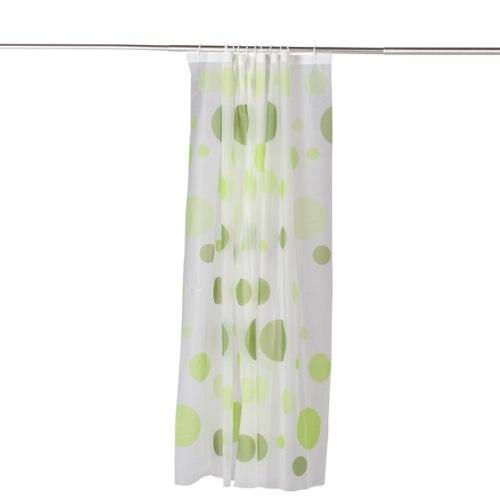 PHFU PEVA Shower Curtain Bath Curtain with Rod Hooks---Dots Pattern