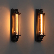Industrial vintage wall light iron retro loft lamp bedroom corridor aisle warehouse restaurant pub bar cafe wall lamp sconce bra retro lamp wall sconce modern wall light glass ball dining bedroom e27 wall lamp restaurant aisle corridor pub cafe wall lights