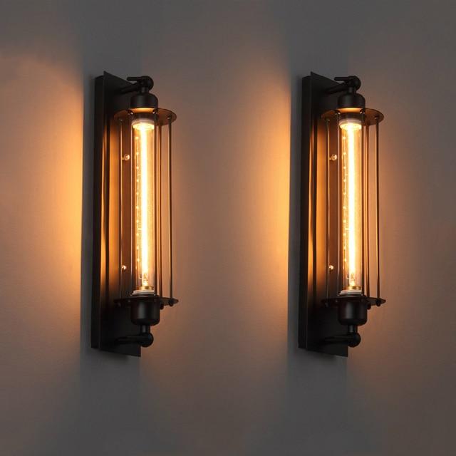 Industrial vintage wall light iron retro loft lamp bedroom corridor aisle warehouse restaurant pub bar cafe wall lamp sconce bra