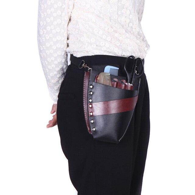 Pu Leather Hairdressing Holster Professional Salon Hair Scissor Pouch Holder Case Bag Waist Shoulder Belt Barber