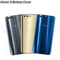 Vecmnoday Nouveau Verre Retour Couvercle De La Batterie Pour Huawei Honneur 9 Cas De Logement Avec 3 M Adhésif Et Logo