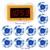 433 MHz Sem Fio Chamando Sistema de Paginação de 10 pcs Chamar Botão + 1 pcs Receptor Anfitrião para o Restaurante Do Hotel Escritório Fábrica café Bar F3259