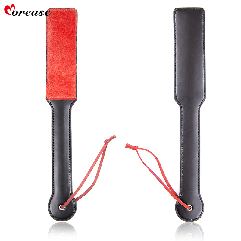 Morease Ass Spanking Paddle Butt Flogger Leather Fetish Knout Slave Whip Bondage Bdsm Sex Toy For Couple Women Brinquedos