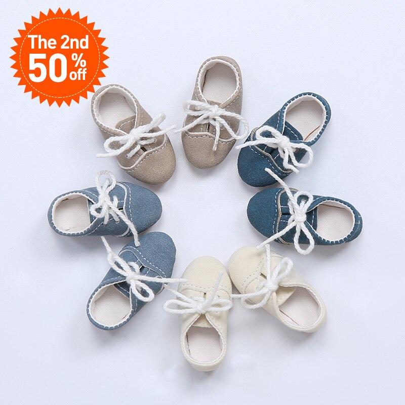 Shoes For BJD Doll 1/6 leather shoes light blue colors Shoes For Minifee Dolls YOSD WX6-43 Length 4.6cm Accessories OUENEIFS dc shoes кеды dc shoes tonik shoe light blue us 6 5