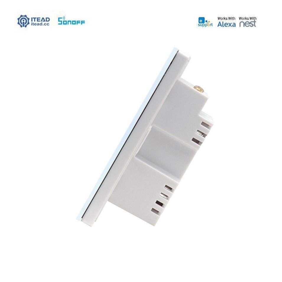 Sonoff T1 3 Gang 2way WiFi sans fil RF/APP/Touch contrôle interrupteur de distribution de lumière murale UK Type domotique intelligente pour Alexa/Nest - 4
