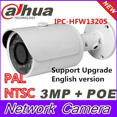 Original Dahua 1080P Onvif Gun Outdoor IP Camera DH-IPC-HFW1320S With POE 3.0 Mega Pixel Full HD Bullet Camera English firmware original english firmware dahua full hd 4mp poe ip camera dh ipc hfw4421s bullet outdoor camera