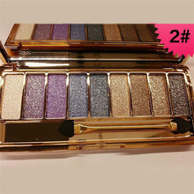 Hot Beauty Makeup 9Colors Eyeshadow Palette Women Diamond Bright Shining Colorful  Shadow Flash Glitter Make Up Set With BrushV2