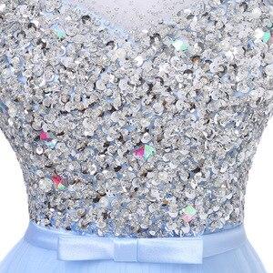 Image 5 - FADISTEE 새로운 도착 럭셔리 긴 스타일 드레스 블링 구슬 장식 tulle 이브닝 드레스 파티 파티 크리스탈 진주 바닥 길이