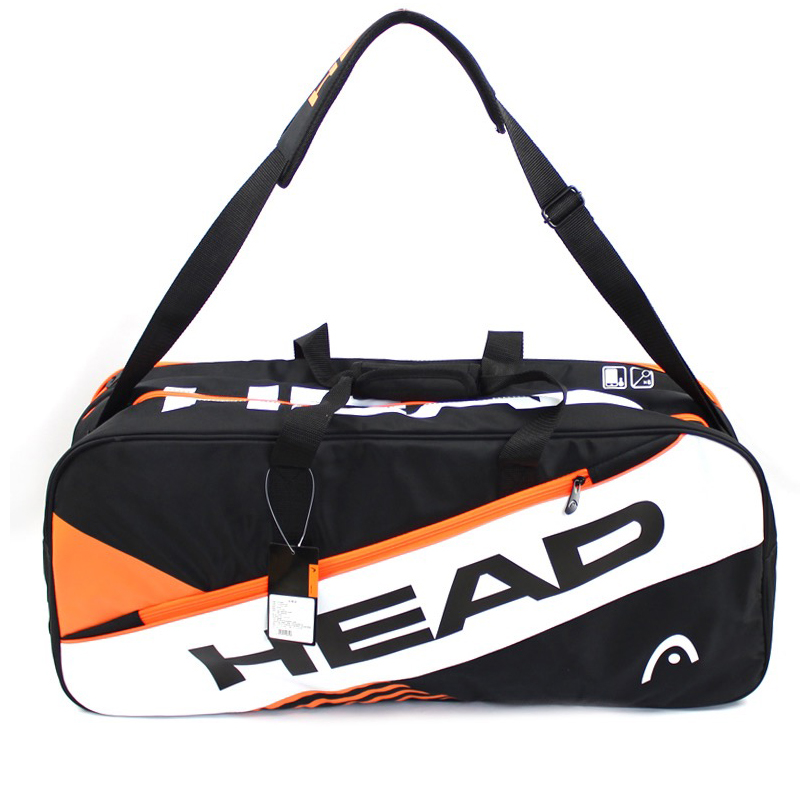 Original HEAD Clothing Bag For Tennis Badminton Accessories With Independent Shoes Bag Large Capacity Professional Male in Racquet Sport Bags from Sports Entertainment