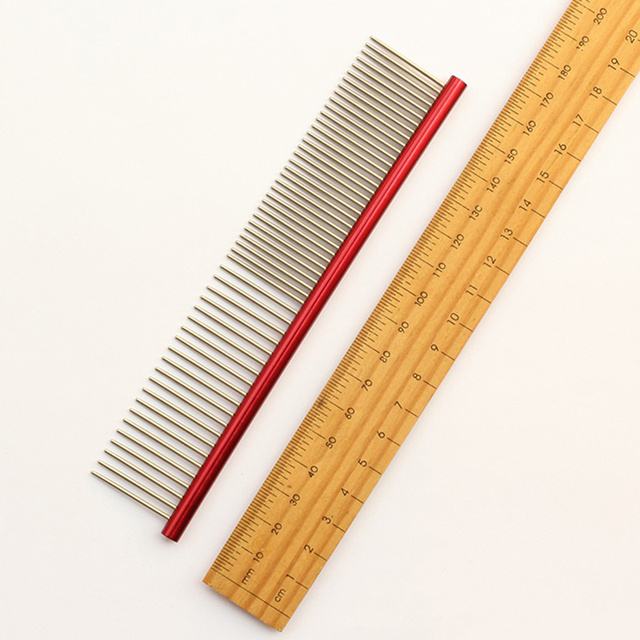 Armi store multicolor Colorful Pet Hair Trimmer Comb 6062002 Dog Cat Grooming Dressed Hair Comb Anti-Static Comb Straight row