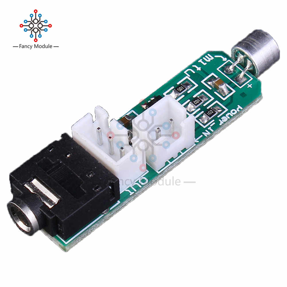 Module d'amplification de Circuit de Microphone DC 1.5-5 V 3 P borne 3.5mm prise Audio